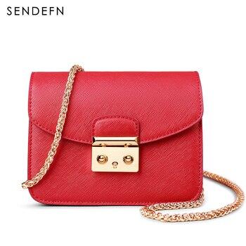 68145b207d5ad SENDEFN نوعية الجلود النساء حقيبة ساع أزياء النساء حقائب كتف السيدات  الحقائب حقائب النساء Crossbody أكياس