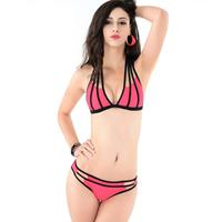 Multi Rope Strappy Biquinis 2017 New Halter Brazilian Bikinis Sexy Trikini Women Swimsuit Push Up Swimwear
