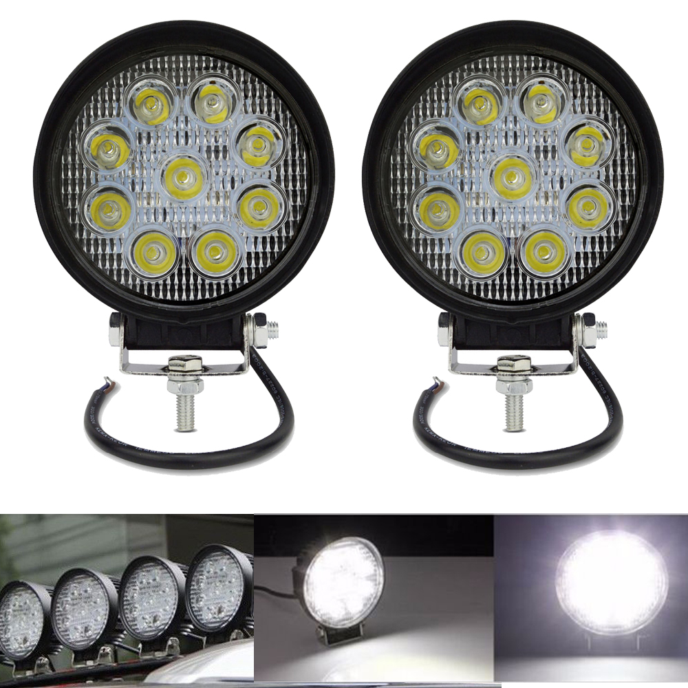 4 Inch 27W Round square LED Work Light Offroad Boat Tractor Truck SUV ATV Spot 12V headlight-Slim-waterproof lamp led sources styx styx the best of times the best of styx