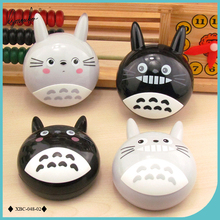 Lymouko New Design Cute Cartoon Neighbor Totoro with Mirror Contact Lens Case for Kit Holder Lenses Box