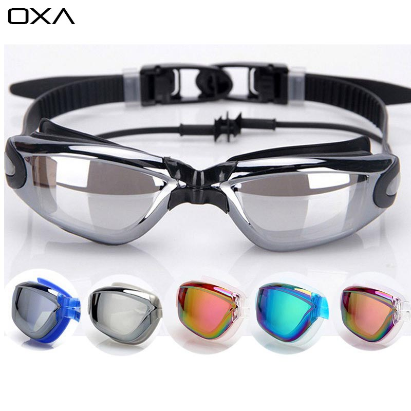 New Professional UV Protection Swim Glasses eyewear Anti Frog Waterproof Colorful men women Swiming Goggles With Diving Earplugs