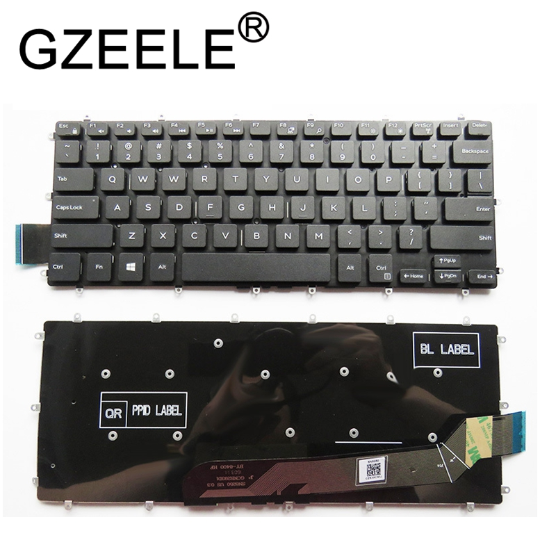GZEELE New English Laptop Keyboard For Dell Vostro 14 5468 V5468 5471 Keyboard