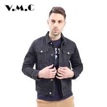 Parka Men Casual Single-Breasted Midweight 2017 High Quality Coat Male Fashion Casual V.M.C Brand Men's Denim Jacket