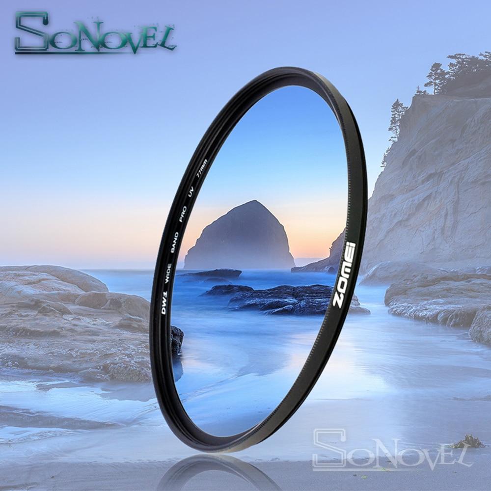 ZOMEI 40.5mm/49mm/52mm/55mm/58mm/62mm/67mm/72mm/77mm/82mm/86mm UV Ultra-Violet Filtre protecteur D'objectif pour nikon Canon Sony