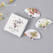 45 pcs/pack Creative Classical Fan Label Stickers Set Decorative Stationery Stickers Scrapbooking DIY Diary Album Stick Lable