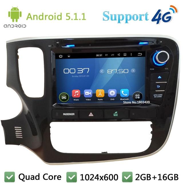 "Quad Core 8 ""1024*600 Android 5.1.1 Dvd-плеер Автомобиля Радио Стерео Экран FM DAB + 3 Г/4 Г WI-FI GPS Для Mitsubishi Outlander 2015"