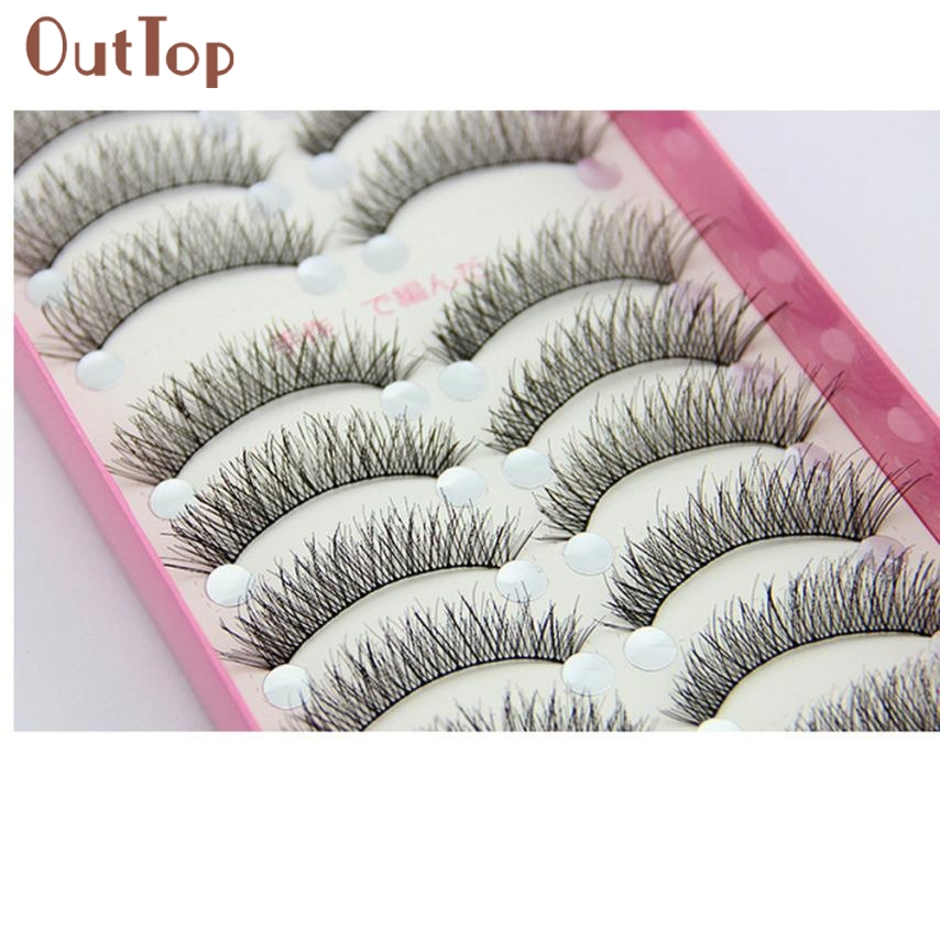5 Pairs Handmade Natural False Eyelashes Popular Messy Paragraph Sparse Cross Eye Lashes Beauty Eyelash Extension Tools Street Price Beauty Essentials