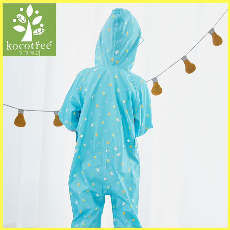 Childrens Girls Boys Summer Cotton Onezee All In One Hooded Jumpsuit 1-6 Years