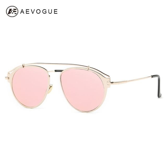 AEVOGUE Sunglasses Women Vintage Brand Designer Steampunk Copper Frame Classic Sun Glasses Eyewear With Box UV400 AE0425
