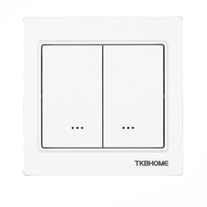 Image 1 - Z Wave plus EU Frequency 868.42MHz Two Channel Wall Mounted Switch socket TKB home TZ57 86X86mm type ( replace TZ65S TZ66S )