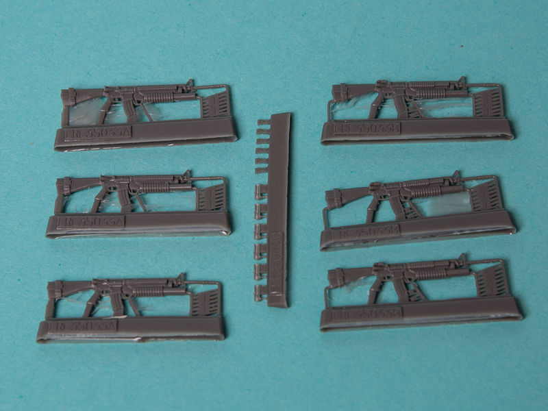 USA 1/35 M16A4 & M203 granate launcher 6 Paket Harz modell Montage modell image