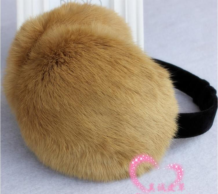 Fur Earmuffs Warm Winter Ear Protector Plush Ear Cover Rabbit Fur Cute
