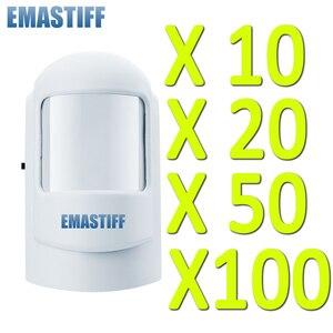 Image 1 - משלוח חינם! סיטונאי 10/20/50/100 יחידות Wireless PIR חיישן תנועת 1527 PIR 433 MHz חיישן גלאי אזעקת gsm אבטחת הבית
