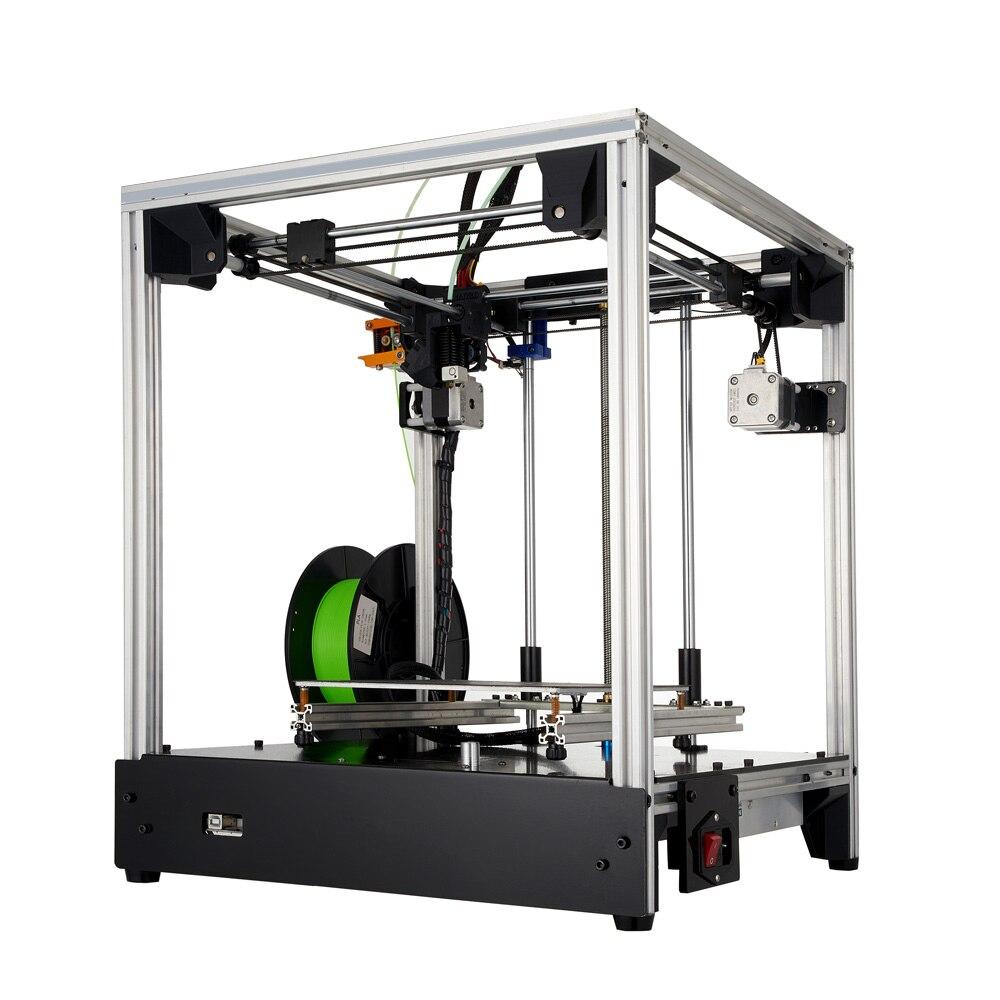 3D stampante 205*205*245 millimetri formato Croce struttura struttura in metallo Pieno 3d ad alta precisione in 3D Morbido brevettato autoadesivo del magnete