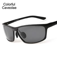 Colorido Caveolae Óculos De Sol Polarizados Homens Populares Ouro Full Frame Masculino Óculos de Condução Moda Óculos de Sol Dos Homens Da Marca