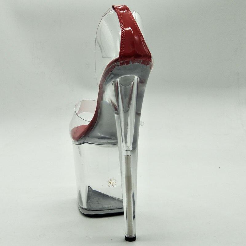 À Ouvert Talons Noir Nouvelle Hauts Chaussures Marque Cm De D'été Bout 20 Sandales Femmes rouge Pvc Boucle Transparent Laijianjinxia Sexy qEw8tUU