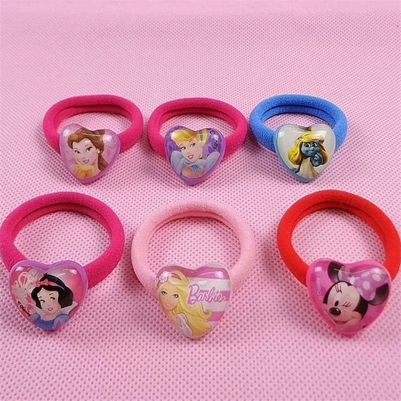 Hospitable 2pcs/lot Disney Doll Accessories Frozen Hair Accessories Princess Hair Ring Cartoon Minnie Rubber Band Rope Childrens Jewelry Dolls Accessories Toys & Hobbies