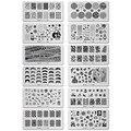 12 дизайн 6 * 12 см из нержавеющей стали шаблона ногтей для штамповки пластин 3D модель трафареты для ногтей JH114