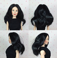 Free Shipping Original KINGSTATE Doll Wig Fashionable Black Curly Hair Wig For 1/4 Franklin Mint Dolls Celebrity Doll Collection