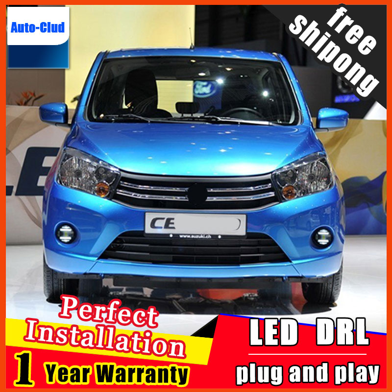 Car-styling LED Fog Light For For SUZUKI Celerio 2010-2014 LED Fog Lamp With Lens And LED Day Time Running Ligh DRL 2 function система освещения for all car 2 7w 18 led drl