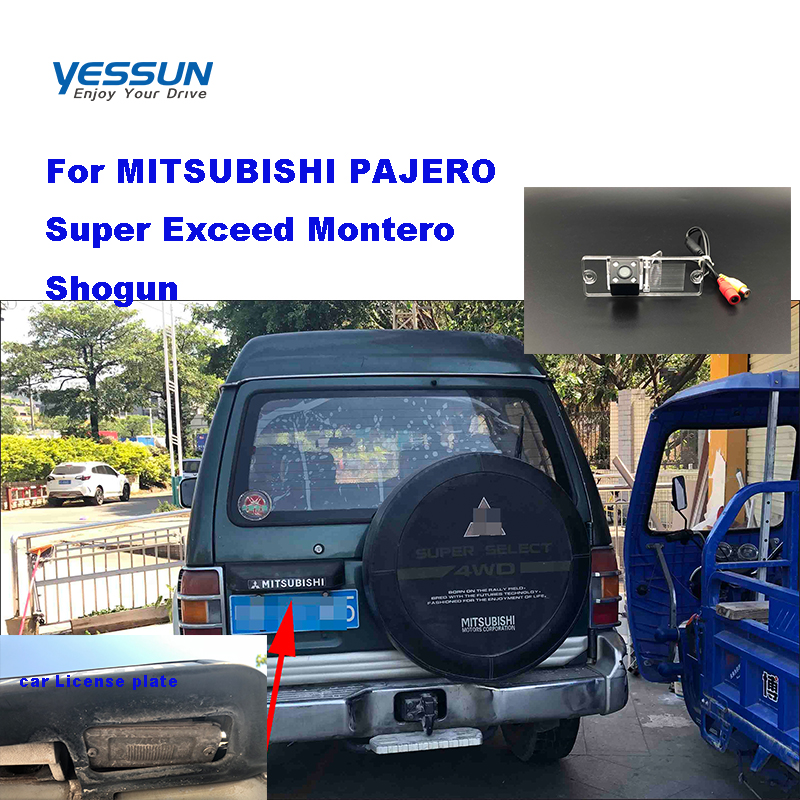 Yessun Car License Plate Rear Camera For MITSUBISHI PAJERO Super Exceed Montero Shogun Car View Camera Parking Assistance