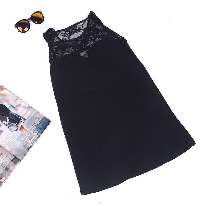 Charmed Sleeveless 19 Sexy Slim Lace Patchwork Dress European style Nightclub Split Blackless Mini Sheath Dress Robe Femme q** 13