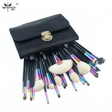 Anmor Large Makeup Brushes Set Gorgeous Natural Hair Make Up Tools with Black Bag CFCB-YF26