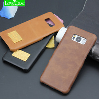 LoveCase Luxury Retro Cowhide Case For Samsung S8 S8 Plus Genuine Cow Leather Phone Cover For