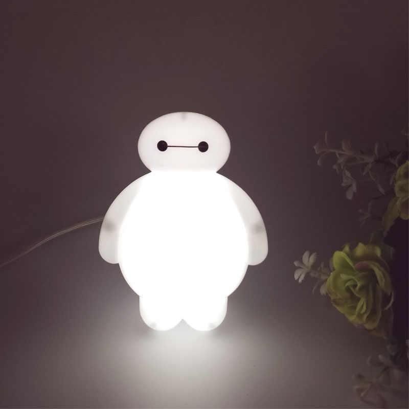 Топ Baymax мультфильм ночник лампа 110 В 220 В США вилка детская комната СВЕТОДИОДНАЯ энергосберегающая лампа Дети свет прикроватная лампа освещение