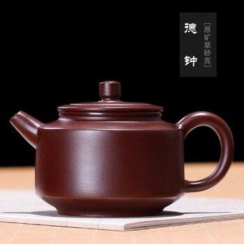 Yixing Dezhong Purple Sand Pot Agent Teaware Ore Purple Eggplant Mud Dezhong Pot Wholesale Factory Direct Sale