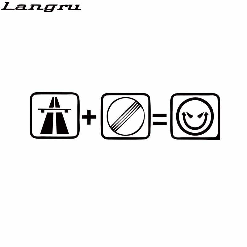 Langru For Autobahn No Speedlimit Fun Aufkleber Tempo Sticker Vinyl Decal Personality Jdm