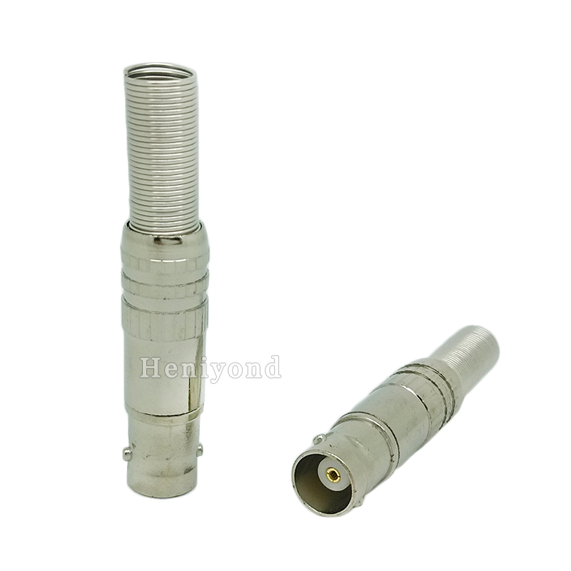 Купить с кэшбэком Free Shipping 10pcs/lot BNC Female Video Plug Coupler Connector to screw for RG59 video male bnc adapter for cctv