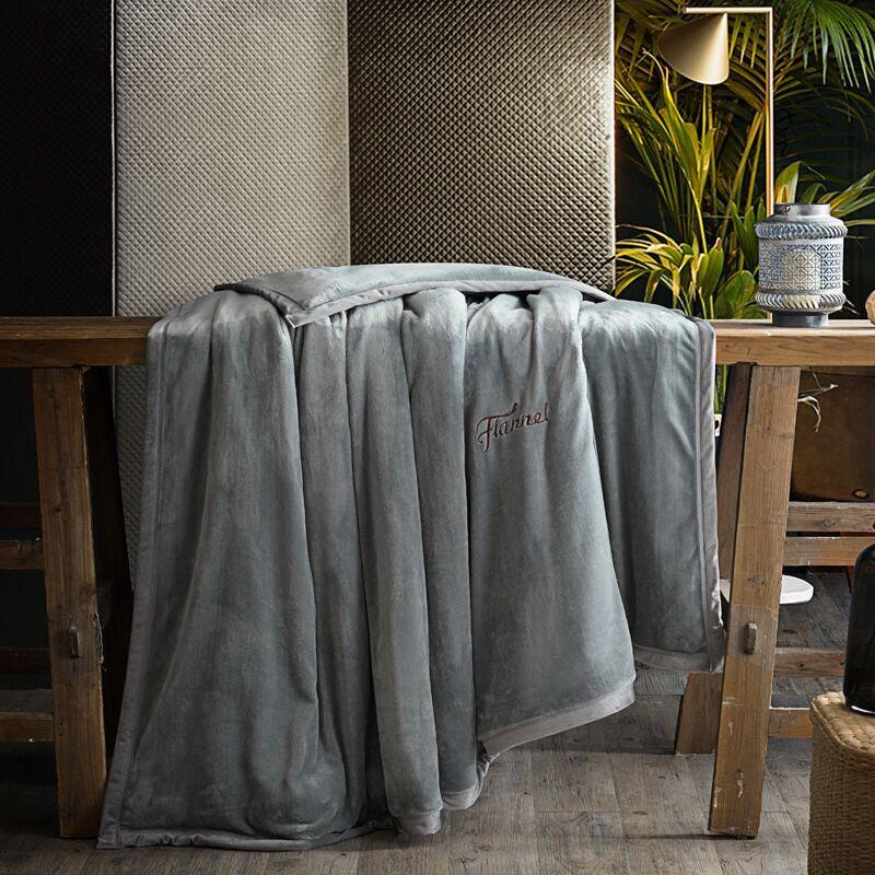 Hap Олень зимний фланелевый флисовый пододеяльник одного кашне крышка двойного назначения одеяло 1 шт. одноцветное теплое одеяло бархатная О