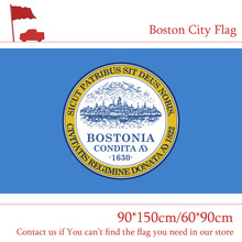 Free shipping Boston City Flag Of US Massachusetts State 60*90cm 90*150cm 3x5ft 100d Polyester Banners For Campaign Vote