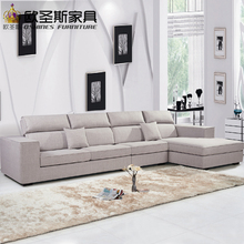 fair cheap low price 2017 modern living room furniture new design l shaped sectional suede velvet fabric corner sofa set X286-1(China)