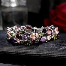 CARSINEL Fashion Women Bracelets & Bangles Silver Color Crys
