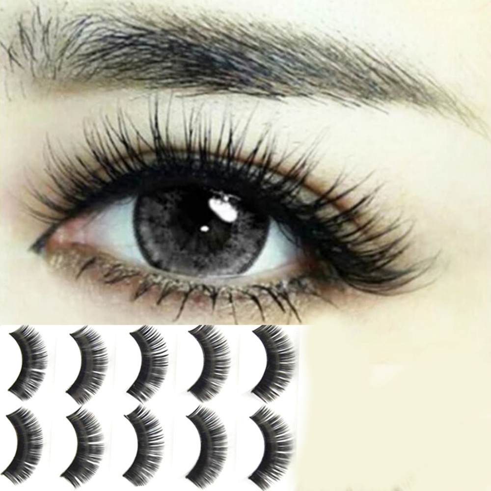 False eyelashes Professional thick fake lashes nude makeup eyelashes extentions 5pairs per pack with model show