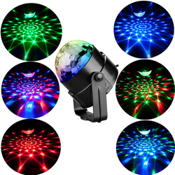 Alta qualidade 7 cores luz de lavagem discoteca 3 w som ativado laser projetor rgb girar efeito iluminação palco lâmpada luz dropship