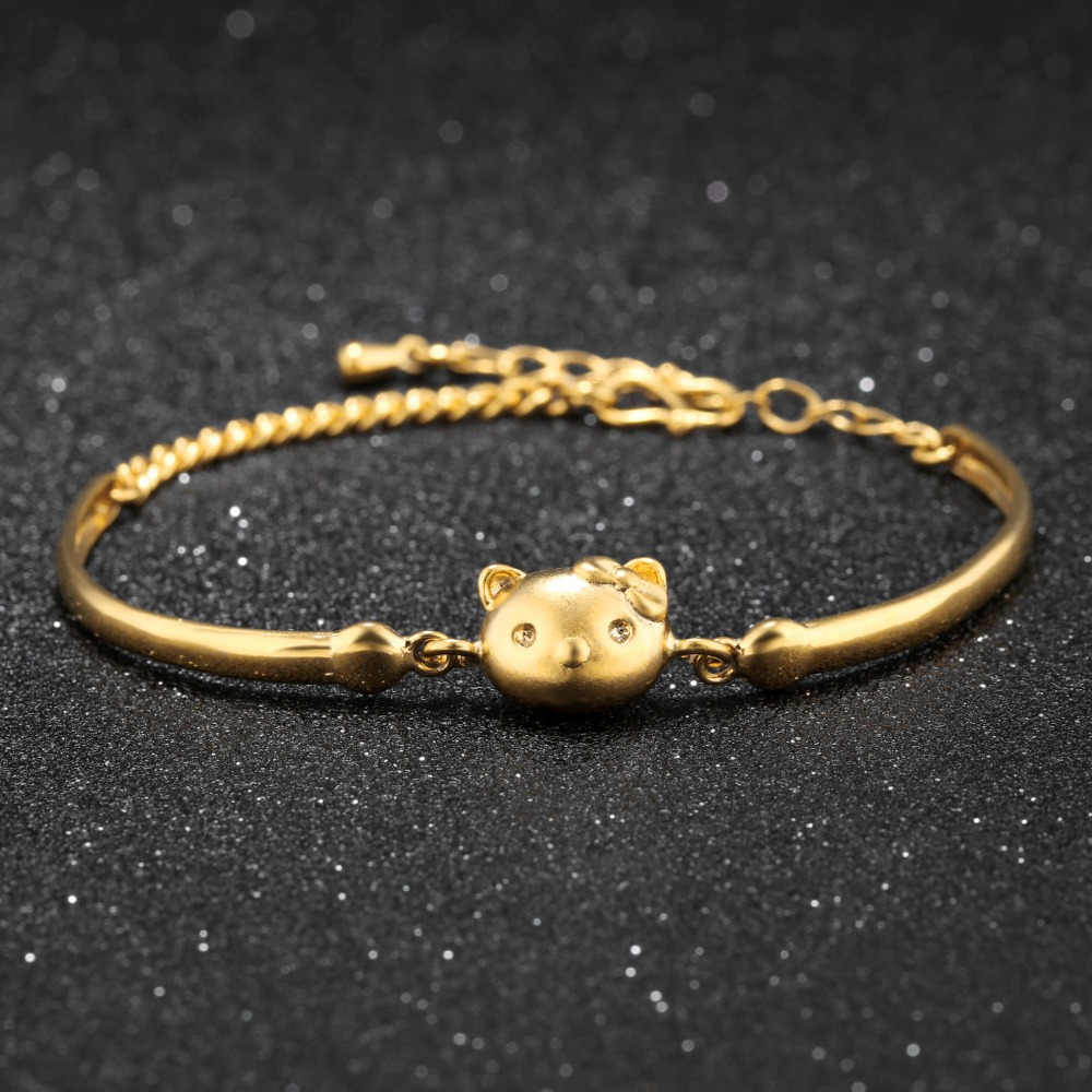 Hello Kitty Kitty bracelet copper plating gold jewelry south ...