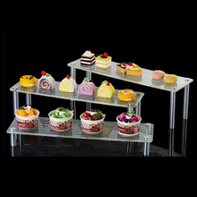 Three Tier Acrylic Wedding Cake Plastic Stainless Buffet Cupcake Party Stand for Bread Shelf Holder Display Bolo Prateleira