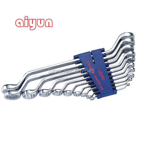 10pcs/set  box end Wrench set (Metric)  box end spanner set chrome vanadium steel ratchet combination spanner wrench 9mm