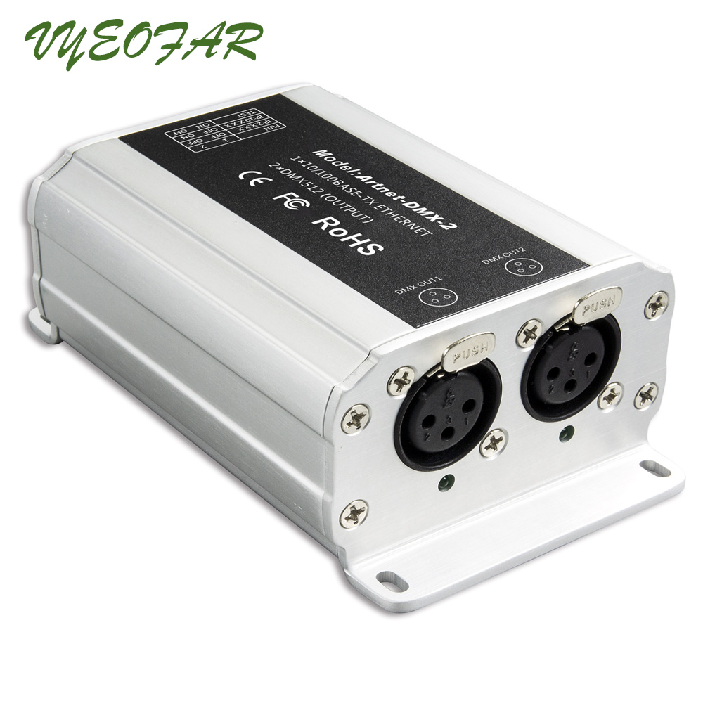 Ltech DC12V Artnet-DMX-2; ArtNet-DMX converter;ArtNet input;DMX 1024 channels output 512x2CH channels Artnet to DMX converter контроллер dmx involight lc20