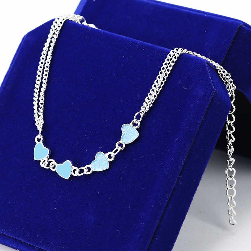 ... 1PC Luminous Heart Pendant Bracelets for Women Pretty Punk Bracelet  Lover Bangles Party Fashion Female Bracelet ... 7bb2ac0ee710
