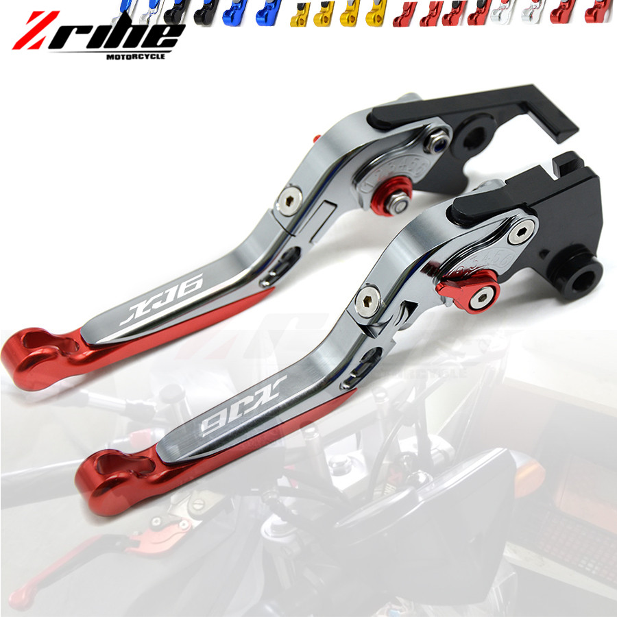 For YAMAHA XJ6 DIVERSION 2009 2010 2011 2012 2013 2014 2015 Laser Logo XJ6 Foldable Brake Clutch Levers Motorcycle accessories with logo xj6 cnc new adjustable motorcycle brake clutch levers for yamaha xj6 diversion xj6diversion xj 2009 2014