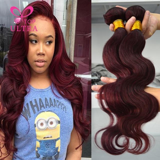 Color 99j Brazilian Burgundy Body Wave 3pcs 8a Brazilian Virgin Hair