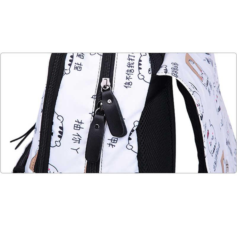 Женские рюкзаки с usb зарядкой для девочек-подростков, школьные сумки, черные дорожные сумки, женская модная сумка для ноутбука, Mochila Feminina