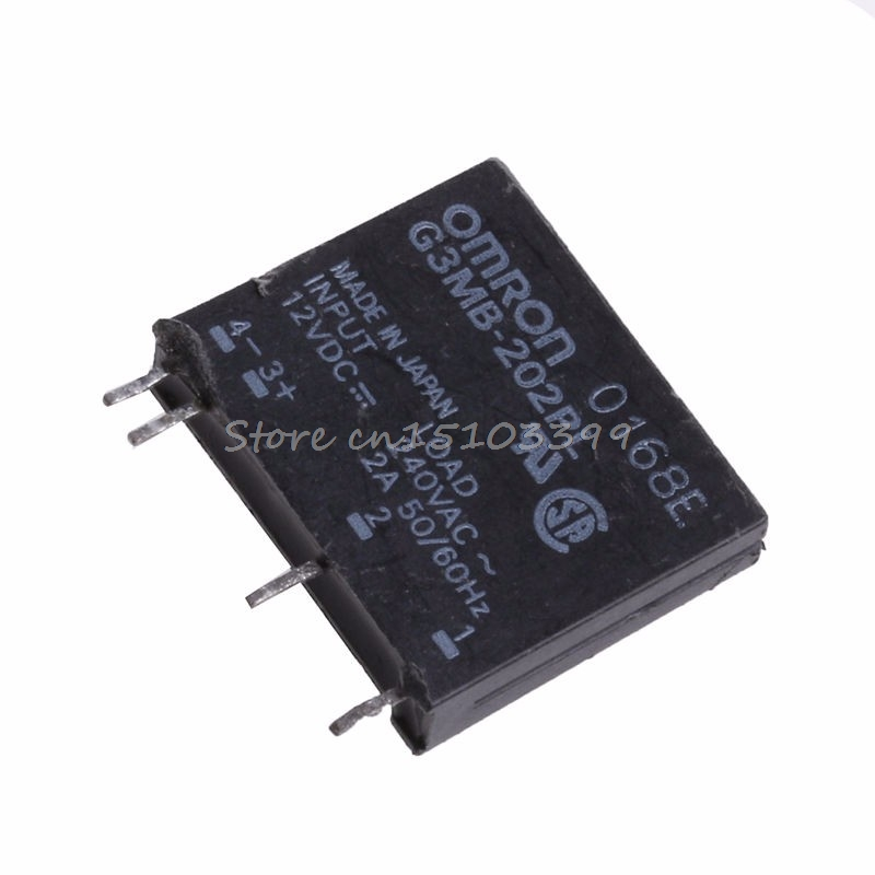 1 Stück Neue Solid State Relais G3mb-202p Dc-ac Pcb Ssr In 12 V Dc Out 240 V Ac 2a Drop Schiff