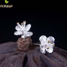 Женские серьги гвоздики flyleaf Винтажные из серебра 100% пробы