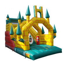 цена на Factory sale jumping inflatable slide Commercial Inflatable Slide with Free CE Blower bouncer