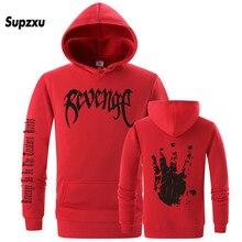 Revenge kills mens hooded sweatshirt orange black handsome plus size XXL